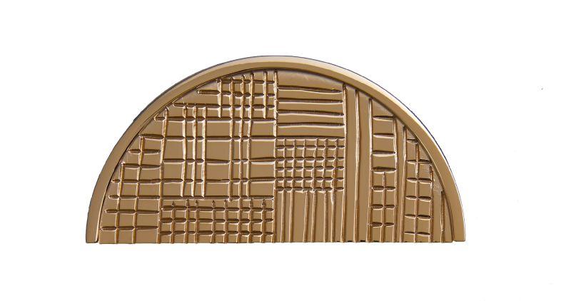 """Nábytková úchytka Geometrik """"půlkruh"""" s potahem 24k zlata"""