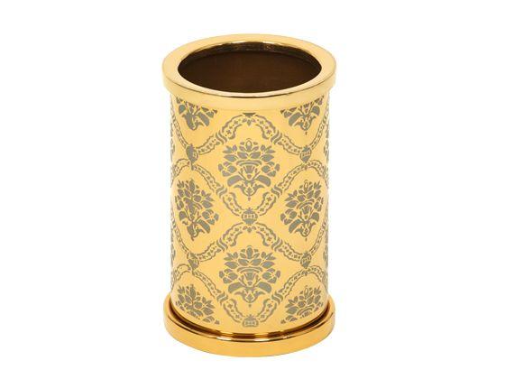Kelímek na kartáčky Desenli s potahem 24k zlata