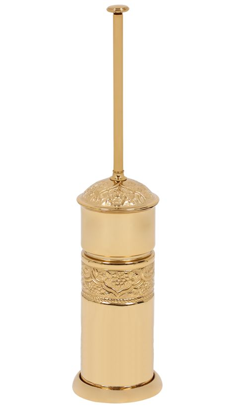 Toaletní kartáč Rose volně stojící s potahem 24k zlata
