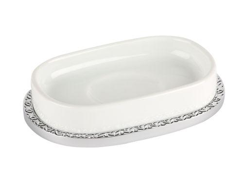 Miska na mydlo Porcelaine so strieborným poťahom