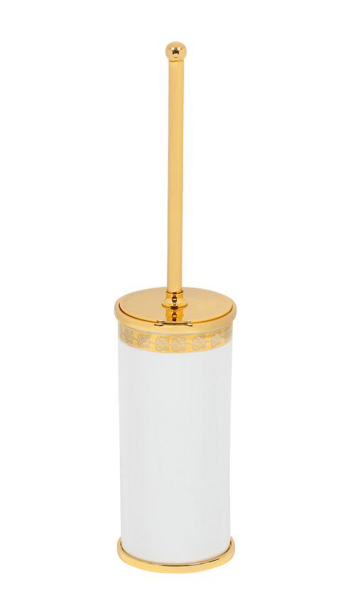 Toaletní kartáč Porcelaine volně stojící s potahem 24k zlata