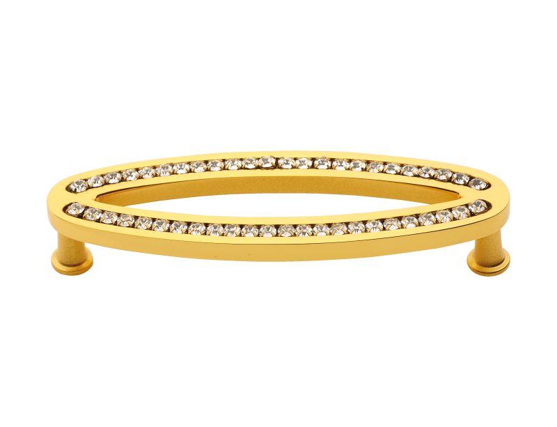 Nábytková úchytka Vega 96mm s potahem 24k zlata