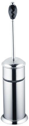 Toaletní kartáč Almara volně stojící s černým krystalem (1 krystal)