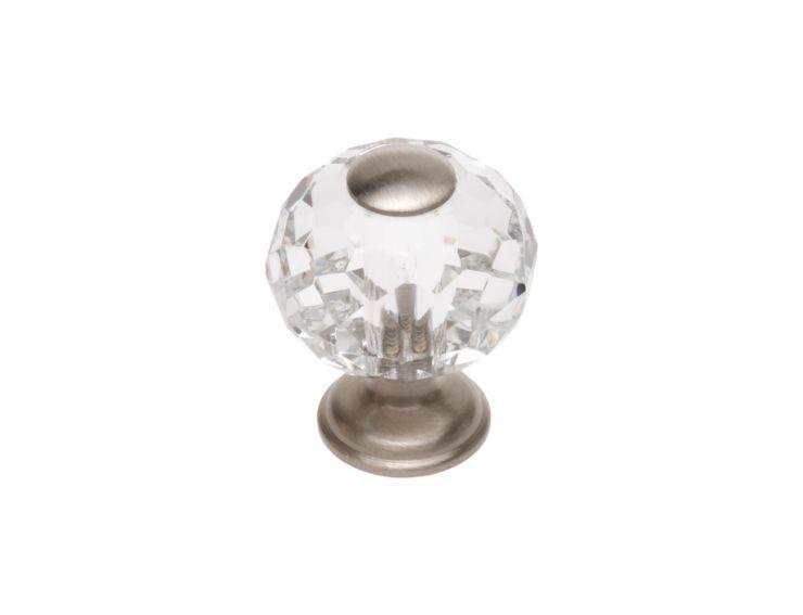 Komodová knopka Bebek s čirým krystalem průměr 20mm