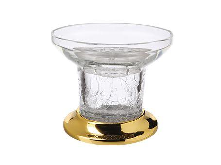 Miska na mýdlo Bebek volně stojící s potahem 24k zlata