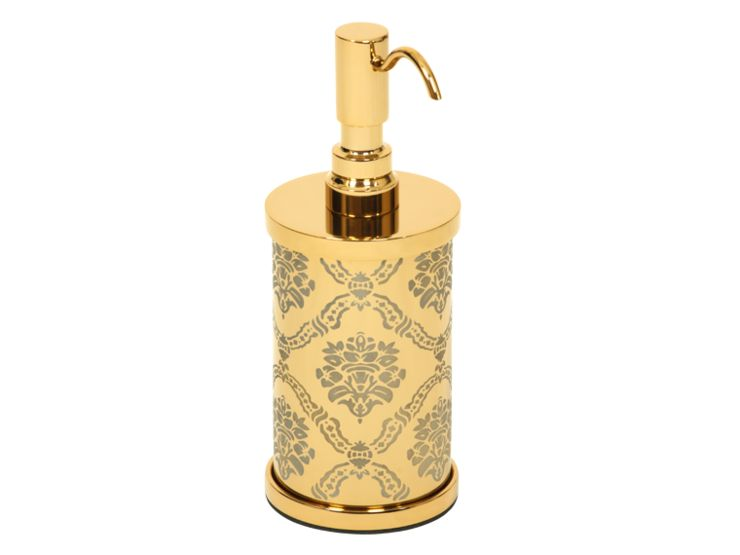 Dávkovač mýdla Desenli s potahem 24k zlata