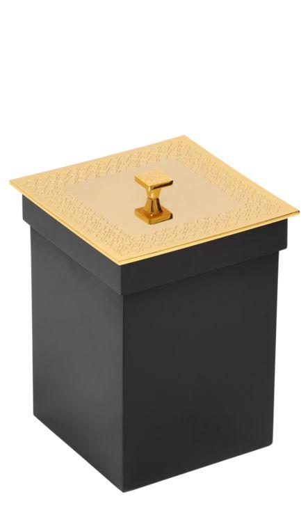 Koupelnový koš Frame s potahem 24k zlata