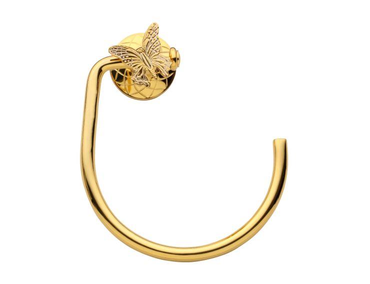 Kruh na ručník Butterfly s potahem 24k zlata