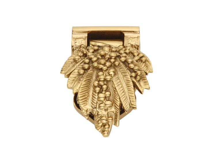 Nábytková knopka Marbella s poťahom 24k zlata