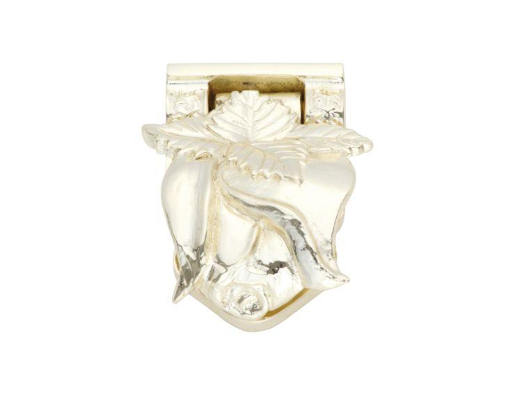 Nábytková knopka Marbella  rustikální zlatá, stříbrný potah