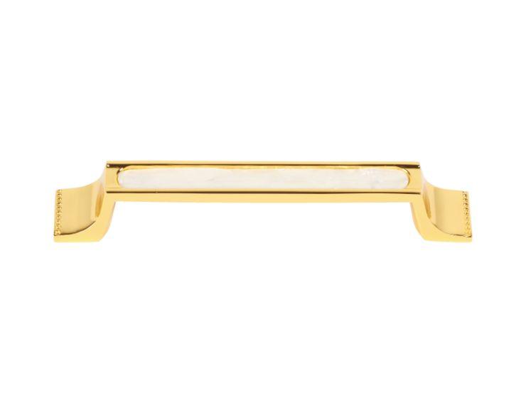 Nábytková úchytka Sedef 128mm s potahem 24k zlata