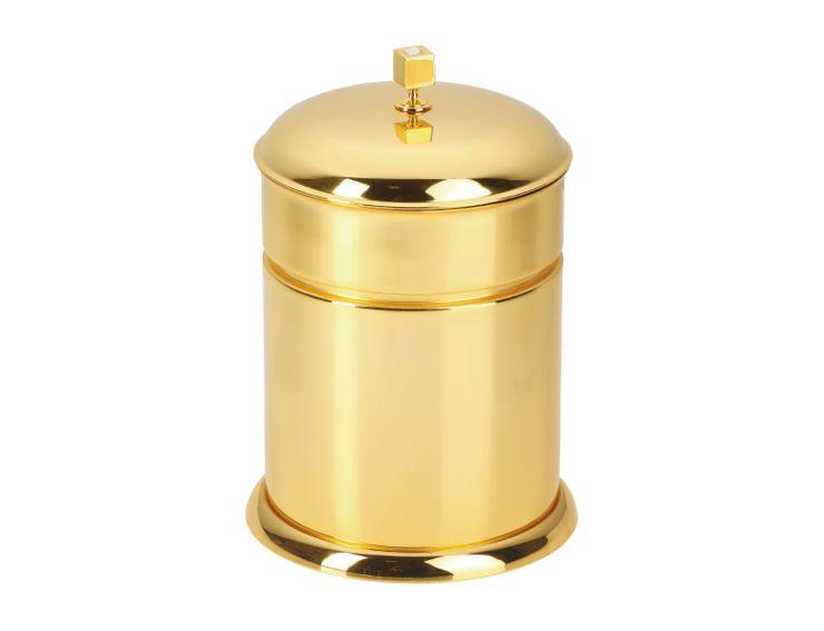 Koupelnový odpadkový koš Tria s potahem 24k zlata