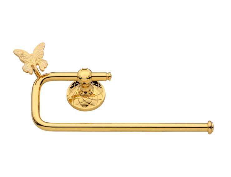 Tyč na papírové utěrky Butterfly s potahem 24k zlata