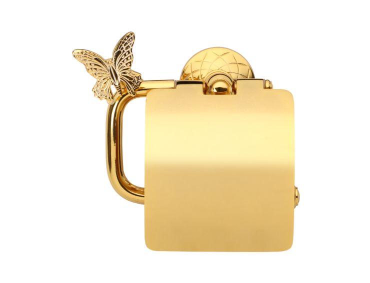 Úchyt na toaletní papír Butterfly s potahem 24k zlata