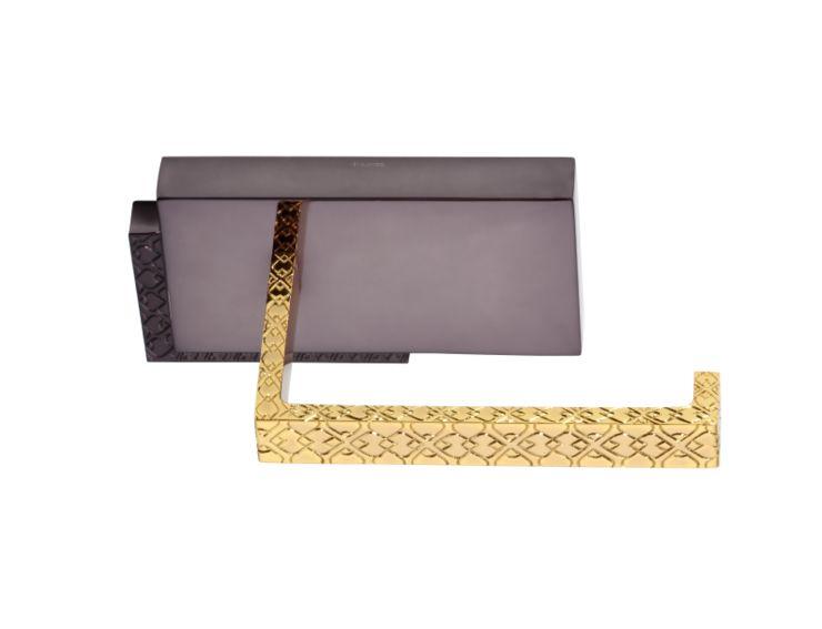 Úchyt na toaletní papír Frame s potahem 24k zlata
