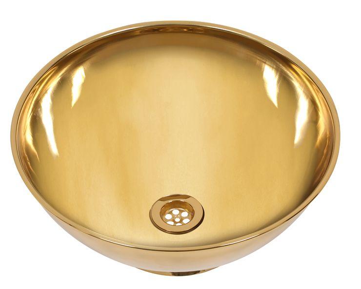 Umyvadlo celomosazné volně stojící Gusto GOLD