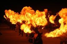 Příběh ohně ve velké ohňové show na Šiklově mlýně